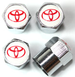 Toyota White Tire Valve Stem Caps - MyValveCaps