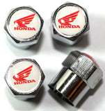 Honda White Wing Motorcycle Tire Valve Stem Caps - MyValveCaps