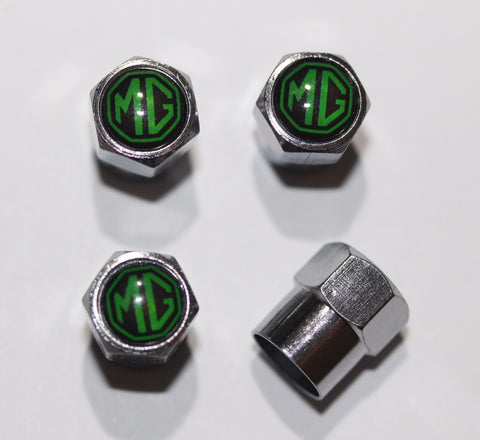MG Green Tire Valve Caps - MyValveCaps