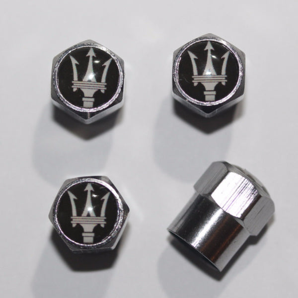 Maserati Black Tire Valve Stem Caps - MyValveCaps