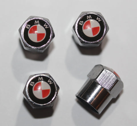 BMW Red Tire Valve Stem Caps - MyValveCaps