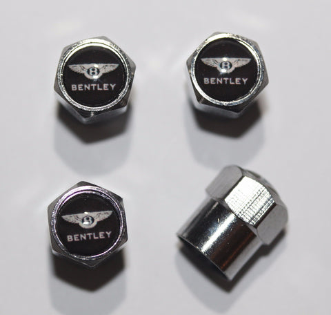 Bentley Black Tire Valve Caps - MyValveCaps