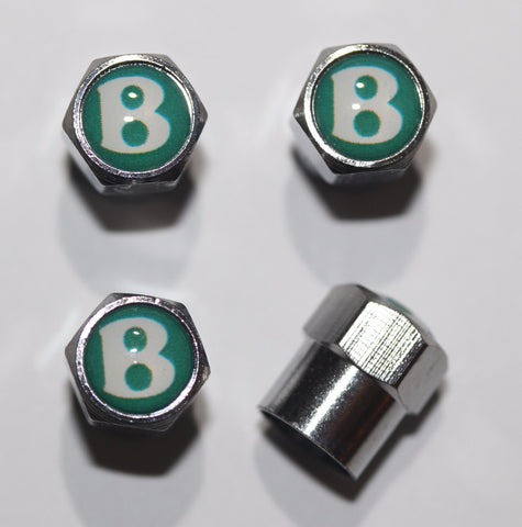 Bentley Logo Green Tire Valve Caps - MyValveCaps
