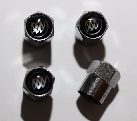 Buick Black Tire Valve Caps