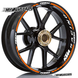 Wheel Rim Stickers for KTM Duke Racing - MyValveCaps