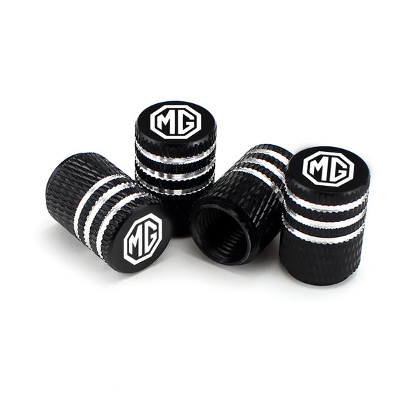 MG Black Laser Engraved Tire Valve Caps - MyValveCaps