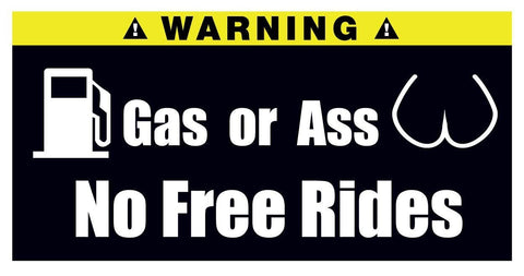 Gas Or Ass Stickers Set of 2