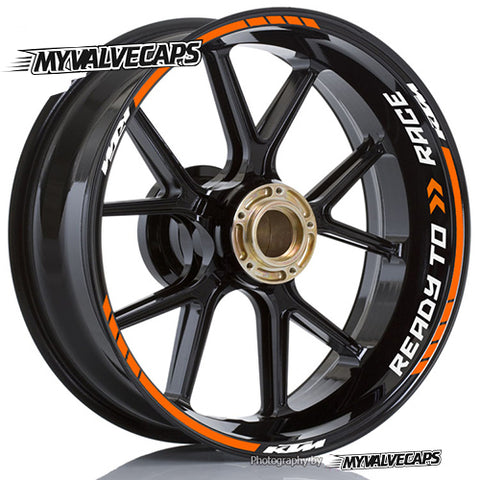 Wheel Rim Stickers for KTM Duke Ready To Race - MyValveCaps