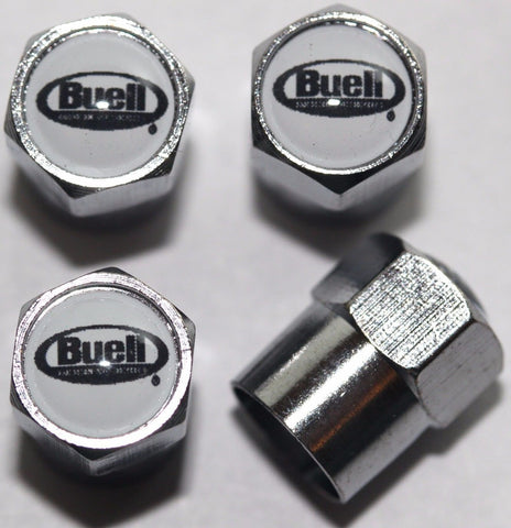 Buell White Motorcycle Tire Valve Stem Caps - MyValveCaps