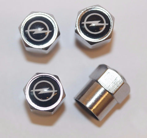 Opel Black Tire Valve Caps - MyValveCaps