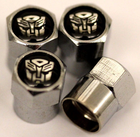 Transformer Autobots Black Tire Valve Caps - MyValveCaps