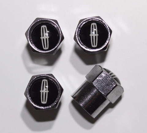 Lincoln Black Tire Valve Caps - MyValveCaps