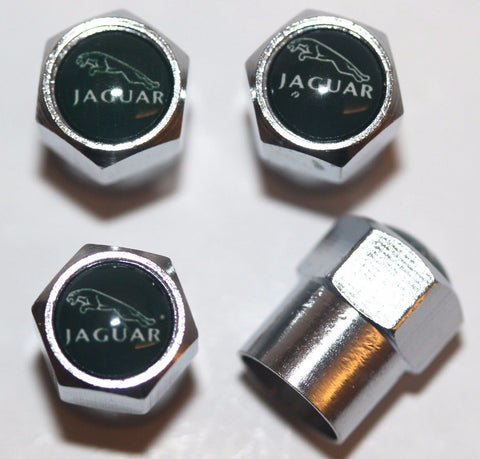 Jaguar Dark Green Tire Valve Caps - MyValveCaps