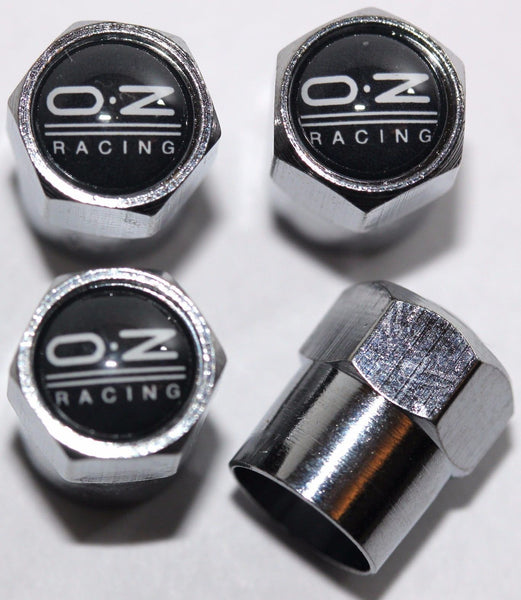 OZ Racing Black Tire Valve Caps - MyValveCaps
