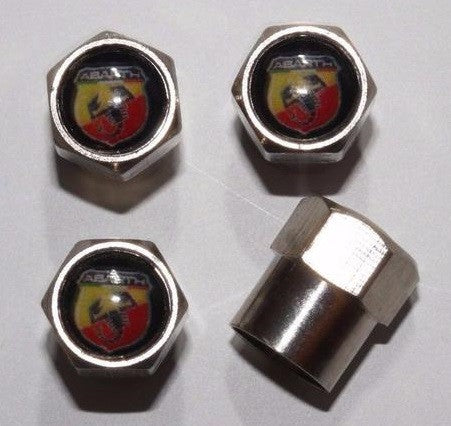 Abarth Black Tire Valve Stem Caps - MyValveCaps