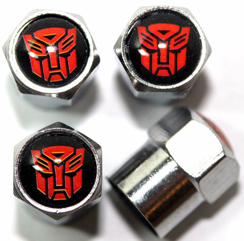 Transformer Autobots Red Tire Valve Caps - MyValveCaps