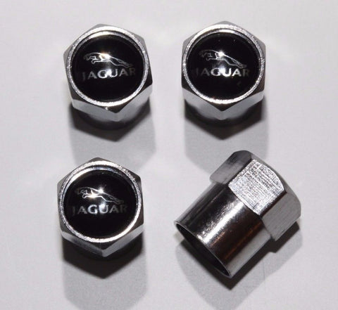 Jaguar Black Tire Valve Caps - MyValveCaps