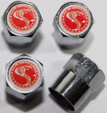 Ford Cobra Red Tire Valve Stem Caps - MyValveCaps