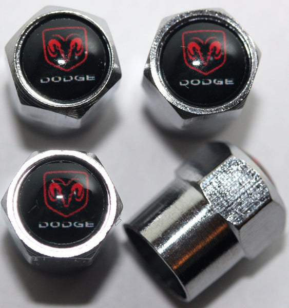Dodge Black Tire Valve Caps - MyValveCaps