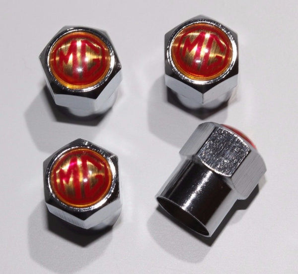 MG Red Tire Valve Caps - MyValveCaps