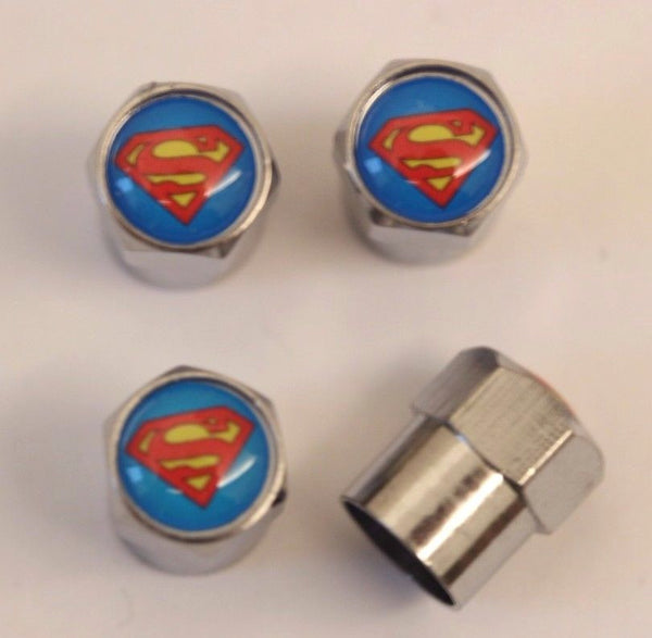 Superman Tire Air Valve Caps - MyValveCaps