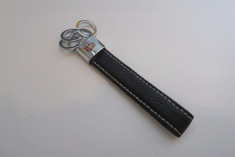 Cadillac Leather Keychain 3 Rings