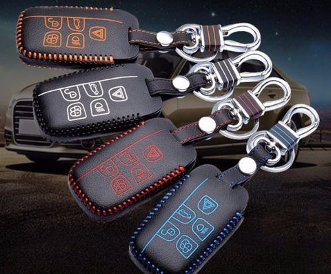 Land Rover 5 Buttons Leather Keychain Keycover