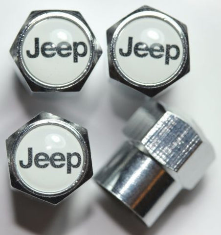 Jeep White Tire Valve Caps - MyValveCaps