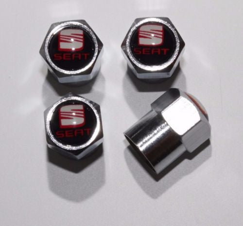 Seat Red Tire Valve Caps - MyValveCaps