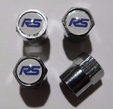 Ford RS Blue Tire Valve Caps - MyValveCaps