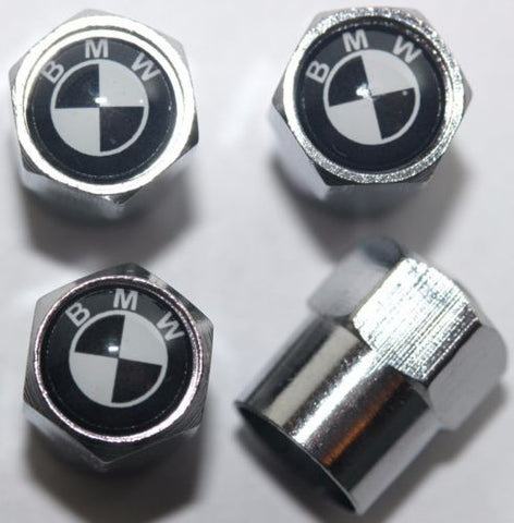 BMW Black Tire Valve Stem Caps - MyValveCaps