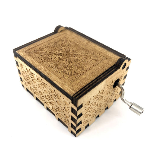 Wooden Music Box with Star Wars, Game of Thrones, and Harry Potter Themes
