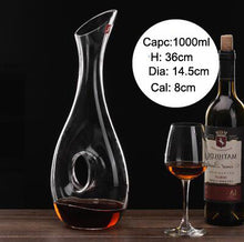 1000ML O-Shaped Crystal Glass Handmade Wine Decanter