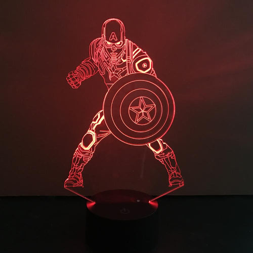 Captain America LED Lamp