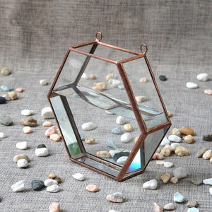 Geometric Wall Decor Glass Planter