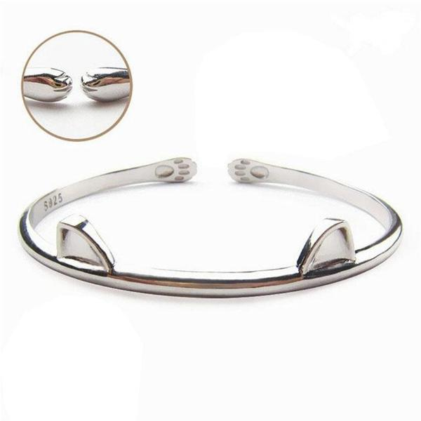 Ears and Paws Kitty 925 Silver Bracelet