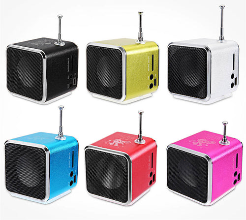 Portable Radio FM Receiver, MP3 Player and Loudspeaker for Laptops and Smartphones