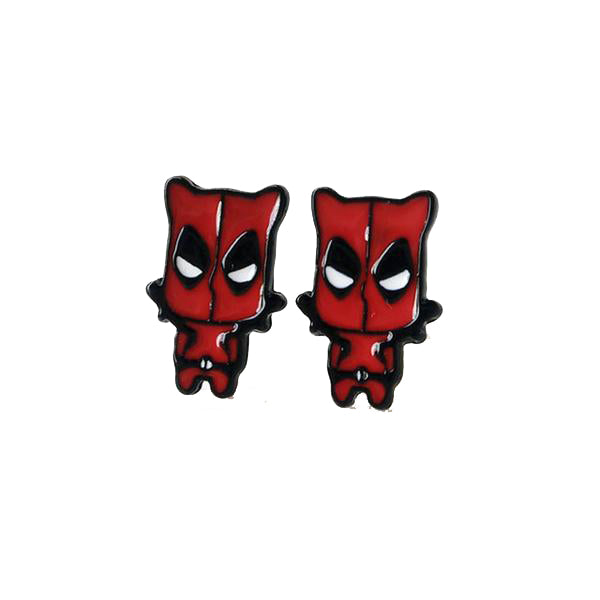 Deadpool and Spiderman Earrings with a Free Gift Box + Free Shipping!