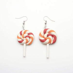 Yummy Rainbow Lollipop Earrings