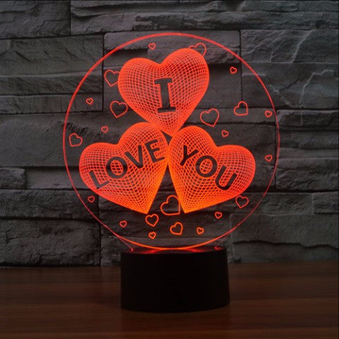 Heart I Love You LED Lamp