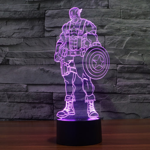 Captain America Body LED Lamp