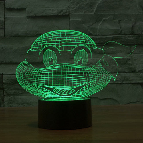 TMNT Head LED Lamp