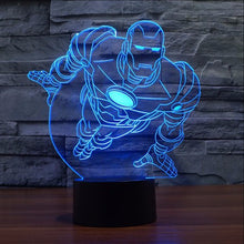 Iron Man Flying LED Lamp