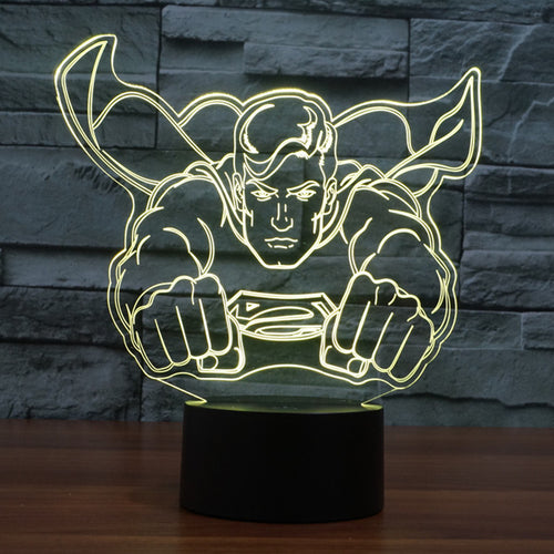 Superman Flying LED Lamp