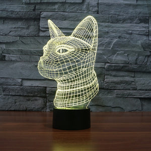 Cat Head LED Lamp
