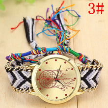 Dreamcatcher Quartz Watch with Knitted Watchband