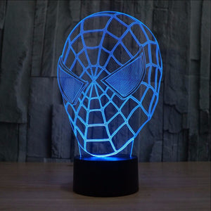 Spiderman Mask LED Lamp