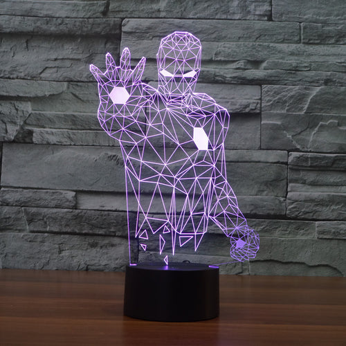 Iron Man Geometric LED Lamp