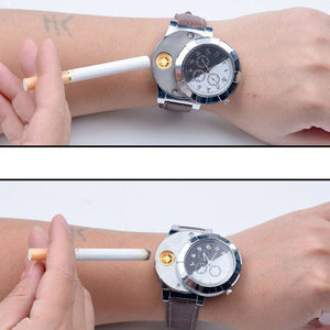 Flameless and USB Rechargeable Lighter Watch