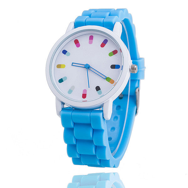Bright Silicone Watch with Colorful